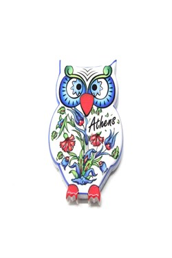 Athens Themed Owl Magnet