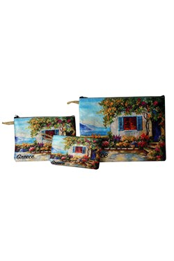 Printed Bag & Wallet Set