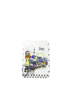 Greece Printed Stamp Magnet