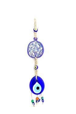 Ceramic Pomegranate Figured Glass Evil Eye Bead